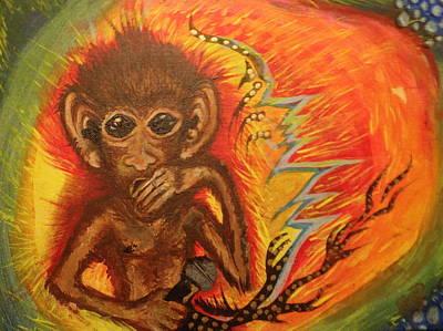Mc Monkey Art Print by Zitlalli Rodriguez