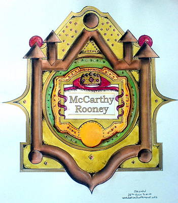 Mccarthy-rooney Family Crest Art Print by Ahonu