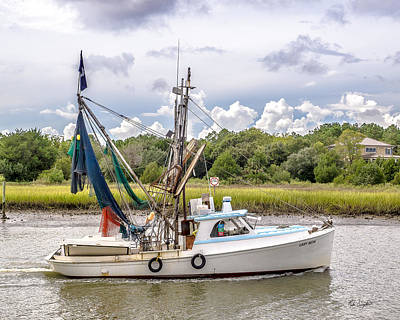 Photograph - Mcclellanville Shrimp Boat by Mike Covington