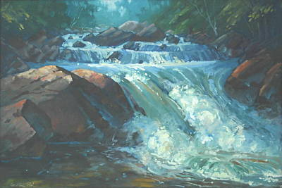 Painting - Mcdonald Brook Rapids by Len Stomski