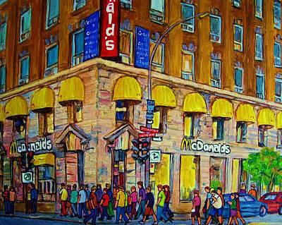 Painting - Mcdonald by Carole Spandau