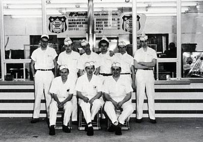 Occupational Portraits Photograph - Mcdonalds Restaurant Original Crew by Everett