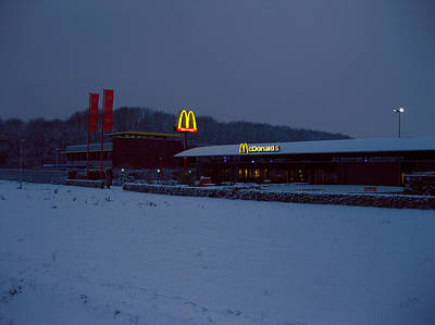 Lights Photograph - Mcdonalds Tilburg In Winter by Nop Briex