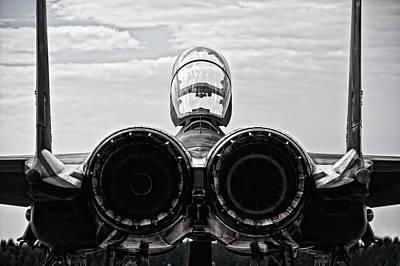 Mcdonnel Douglas F-15 Back View Art Print by Marta Holka