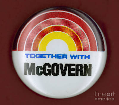 Mcgovern Campaign Button Print by Granger