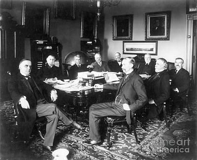 President William Mckinley Photograph   Mckinley U0026 Cabinet, 1898 By Granger
