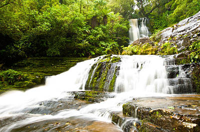 Photograph - Mclean Falls In The Catlins Of South New Zealand by U Schade