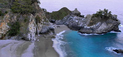 Julia Pfeiffer State Park Photograph - Mcway Falls Pamorama by Stephen  Vecchiotti
