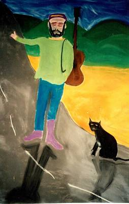 Pastel - Me And Mr. Black Cat Hit The Road by Eliezer Sobel