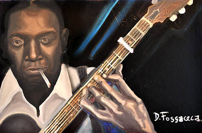 Painting - Me And The Devil Blues-robert Johnson by David Fossaceca