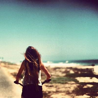 #me #beach #summer #loving #picture Print by Isidora Leyton