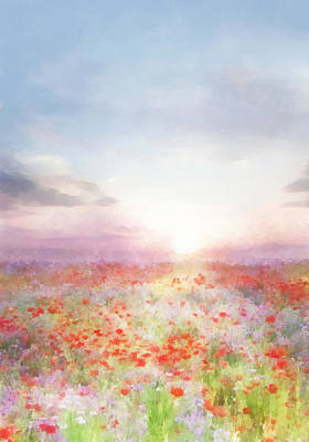 Digital Art - Meadow Flowers by Francesa Miller
