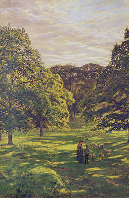 Staff Painting - Meadow Scene  by John William Buxton Knight