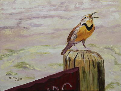 Painting - Meadowlark by Alan Mager