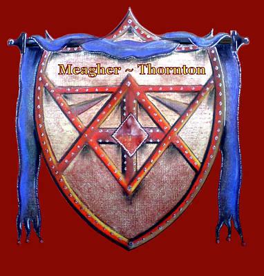 Meagher-thornton Family Crest Art Print