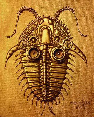 Mecha-trilobite 3 Art Print by Baron Dixon