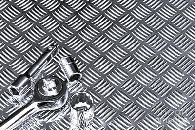 Mechanical Socket Background Art Print by Richard Thomas