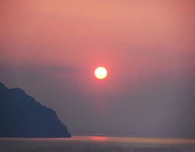 Medaterainian Sunset Art Print by Bill Cannon