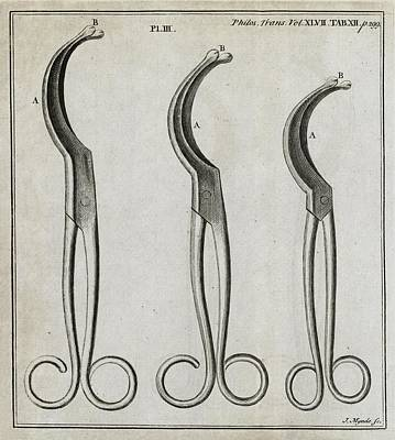 Le Cat Photograph - Medical Forceps, 18th Century by Middle Temple Library