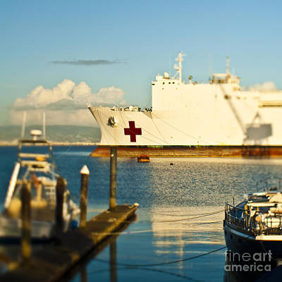 Dogpatch Photograph - Medical Ship At Port by Eddy Joaquim