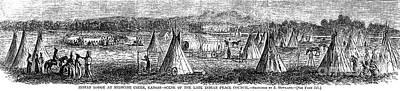 Medicine Lodge Creek, 1867 Art Print by Granger