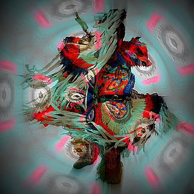 Frenzy Digital Art - Medicine Man Dance by Irma BACKELANT GALLERIES
