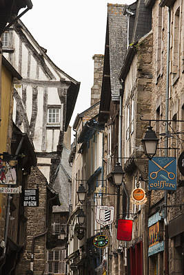 Y120907 Photograph - Medieval European City Center In Dinan France by Mike Kemp Images