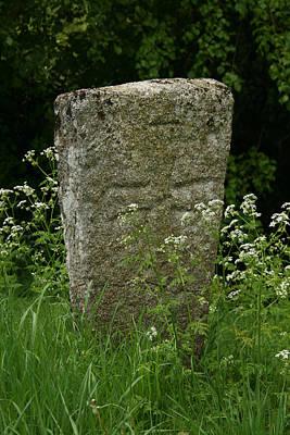 Photograph - Medieval Gravestone by Van Corey
