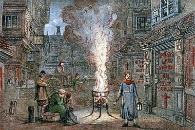 Medieval Plague Scene Art Print