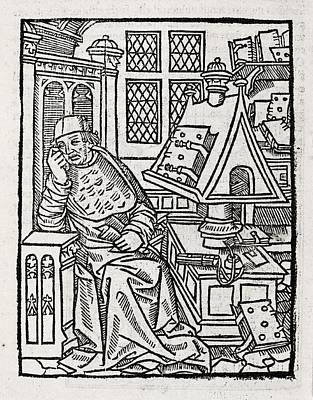 Copying Photograph - Medieval Scholar, 16th Century by Middle Temple Library