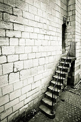 Brick Buildings Photograph - Medieval Staircase by Tom Gowanlock