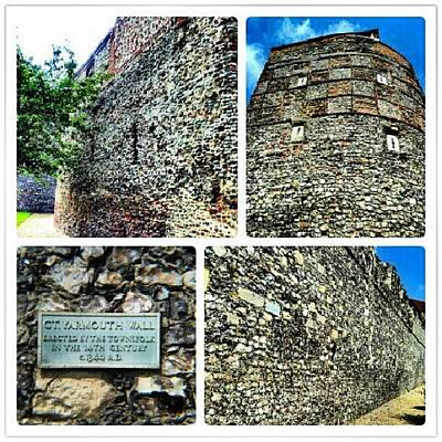 Norfolk Wall Art - Photograph - Medieval Town Wall Built 1433 #town by Invisible Man