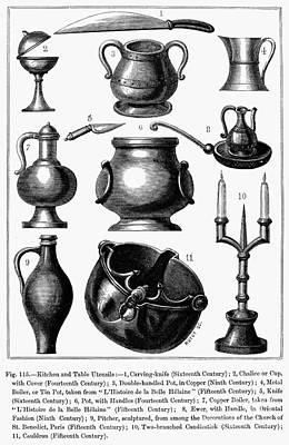Medieval Utensils Art Print by Granger