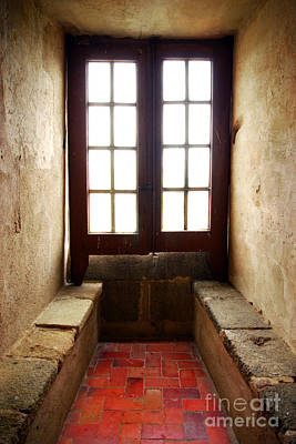 Window Bench Photograph - Medieval Window by Carlos Caetano