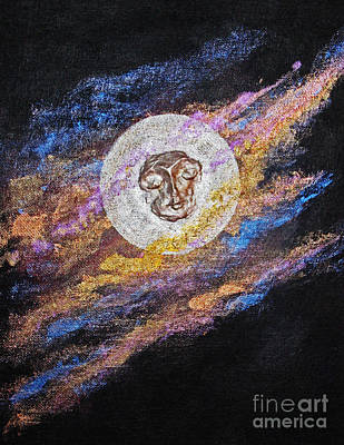 Mu-shin Painting - Meditation 17 by Ellen Miffitt