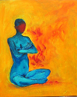 Painting - Meditation by Elizabeth Parashis