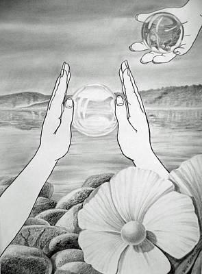 Surrealism Drawings - Meditation  by Irina Sztukowski