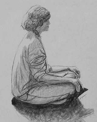 Drawing - Meditation by Kume Bryant