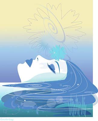 Meditation Art Print by Lisa Henderling