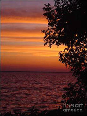 Meditation Sunset Art Print
