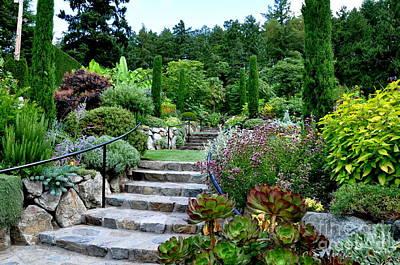 Mediterranean Garden In Butchart Gardens Photograph By
