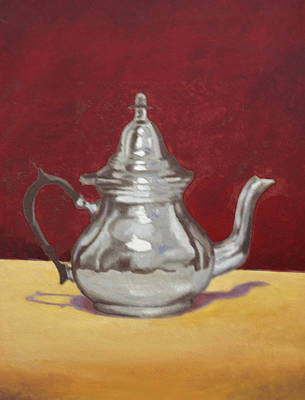 Painting - Mediterranean Silver Kettle by Sam Shacked