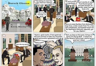 Obama 2012 Digital Art - Meeting Puting  by Kevin  Marley