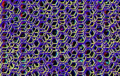 Mega Nano Structure Art Print by Rod Saavedra-Ferrere