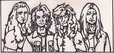 Heavy Metal Drawing - Megadeth by Jeremiah Colley