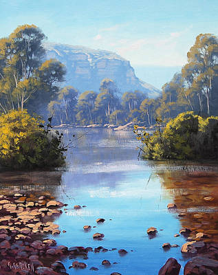 Mountain Stream Wall Art - Painting - Megalong Creek by Graham Gercken