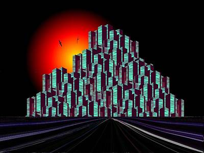 Digital Art - Megalopolis by Tim Allen