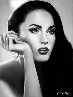 Megan Fox Drawing - Megan Fox by Catherin Moon