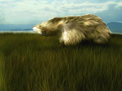 Megatherium Art Print by Christian Darkin