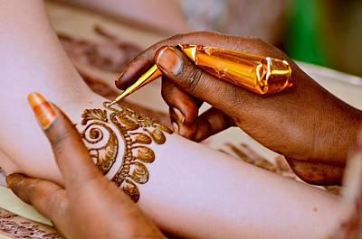 Photograph - Mehendi For The Bride by Valerie Rosen